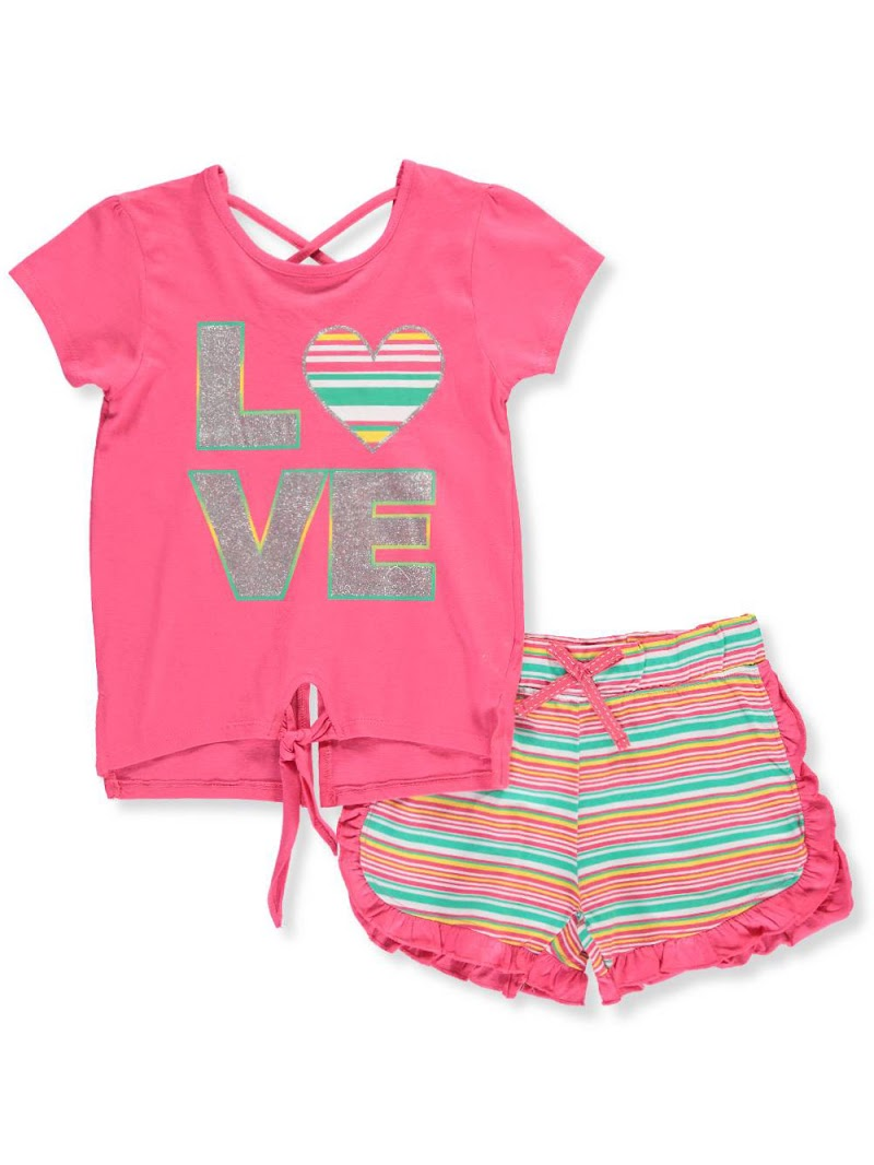 COOKIESKIDS -  GIRLS' 2-PIECE SHORTS SET OUTFIT $9.99