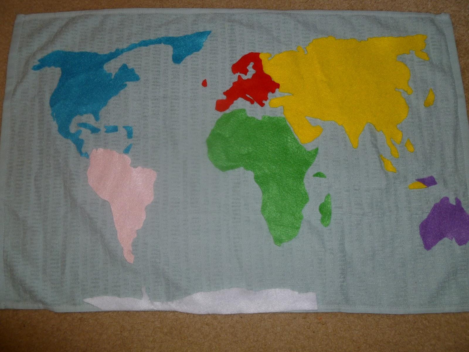 Noor Janan Homeschool Continents Amp Oceans Of The World