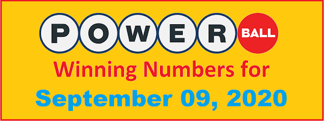 PowerBall Winning Numbers for Wednesday, September 09, 2020