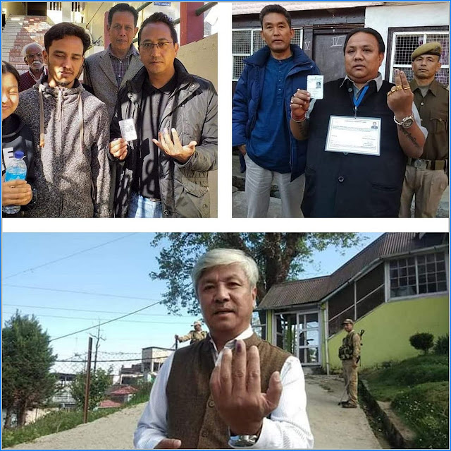 Mann Ghisingh, Niraj Zimba, Amar Lama casted their vote Darjeeling By Election