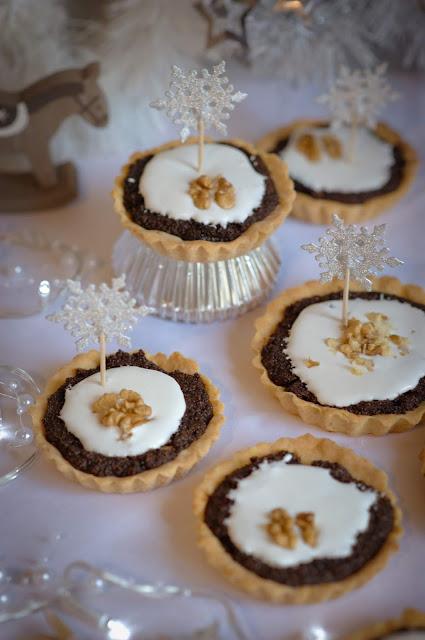 Boże Narodzenie, tarta, jedzenie, mak, ciasteczka, orzechy, wigilia