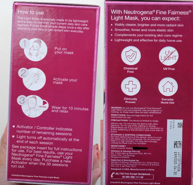 a photo of Neutrogena Fine Fairness Light Mask Review