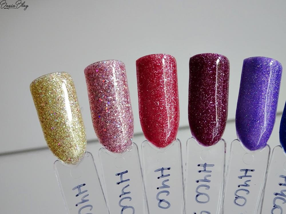 HYCO, brokatowe lakiery hybrydowe, brokatowe hybrydy, brokatowe paznokcie, glitter nails, lakiery HYCO