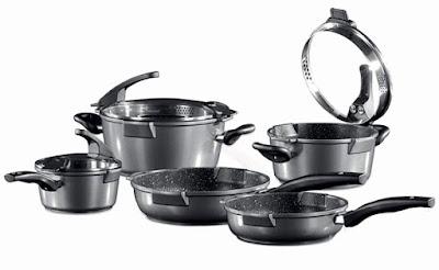 Stoneline Xtreme 8-Piece Ceramic Cookware Set