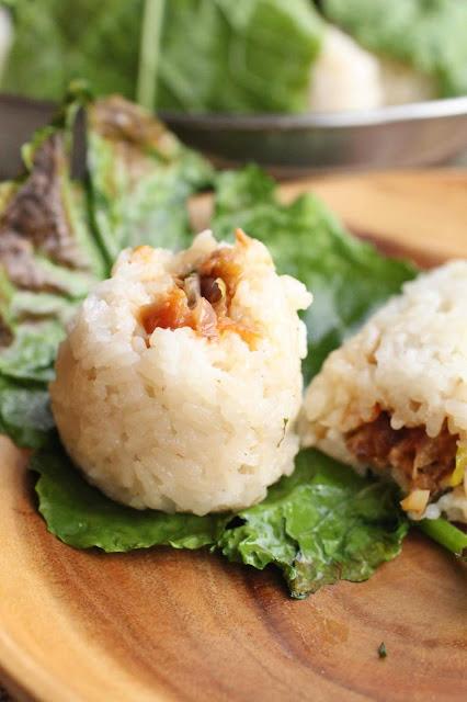 riz gluant boulette au lait de coco