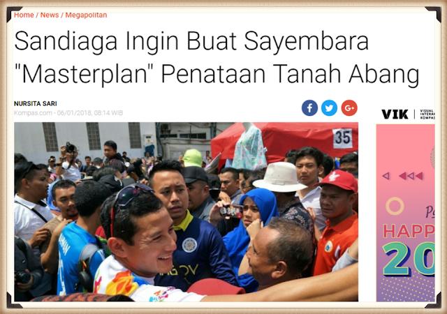 Sandiaga Uno Mau Sayembarakan 'Masterplan' Penataan Tanah Abang, Lihat Netizen Malah Ngomel Seperti Ini...