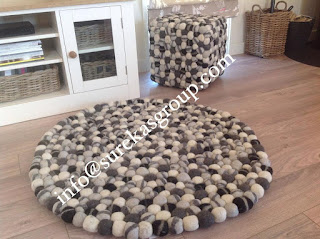 wool felt balls rugs suppliers in india