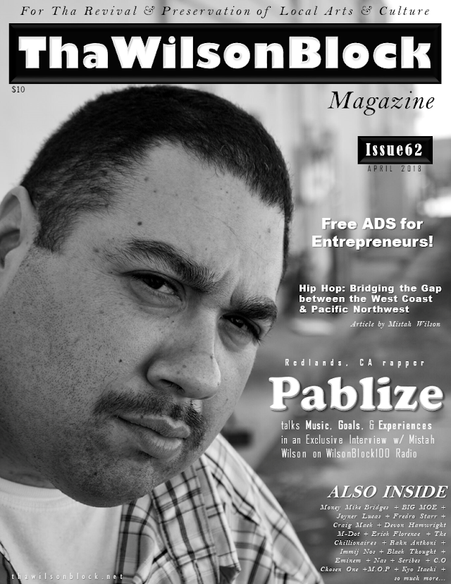 ThaWilsonBlock Magazine Issue62 (April 2018) featuring Pablize
