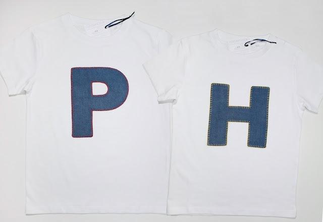 camisetas para hermanos con iniciales