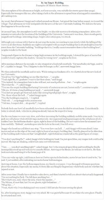 Contoh Cerpen Bahasa Inggris dan Terjemahan Indonesia