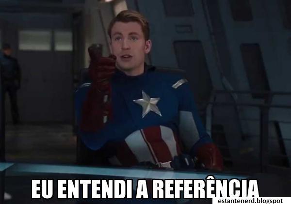 entendi a referência capitão américa