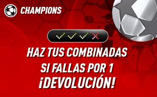 """sportium Champions: Combinada """"con seguro"""" 27-28 noviembre"""