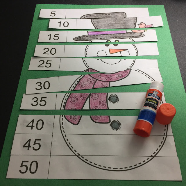 Fern Smith's Classroom Ideas January Snowmen Counting Center Puzzles!