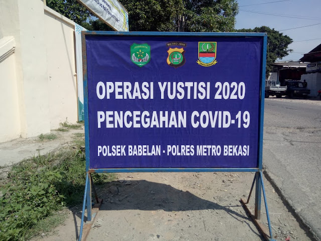 Tegakkan Protokol Kesehatan Polsek Babelan Gelar Operasi Yustisi Selama 14 Hari