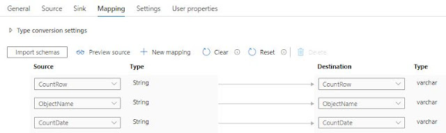 Automapping in Azure Data Factory