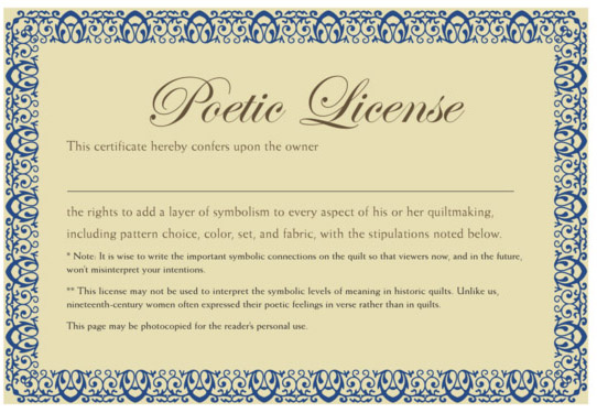 Poetic License >> Civil War Quilts Birds In The Air Pattern A Poetic License