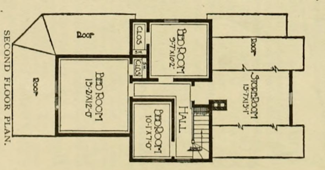 upstairs floor plan of Sears Silverdale No 110