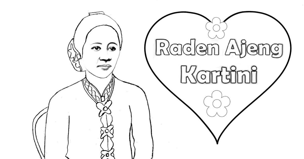 Mewarnai Dengan Krayon Ibu Kartini Mewarnai M