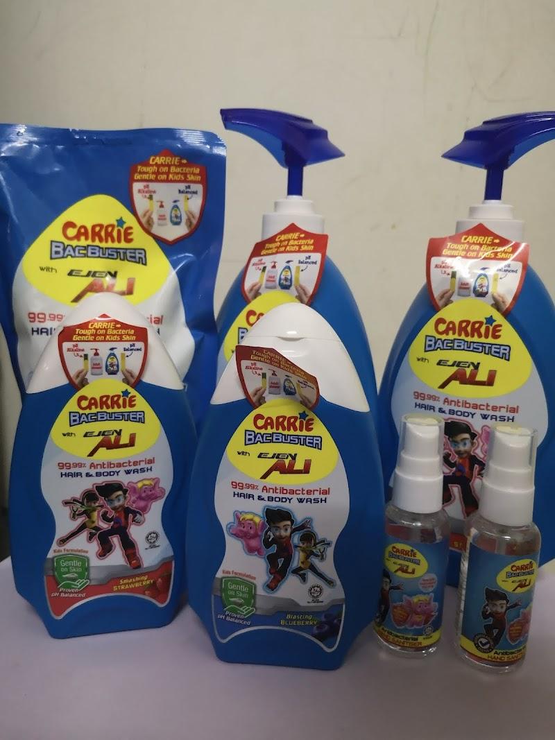 Carrie Bacbuster Antibacterial Hand and Bath Wash with Ejen Ali Diformulasi untuk Kulit Kanak Kanak