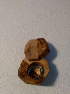 Wedding ring box wooden DIY
