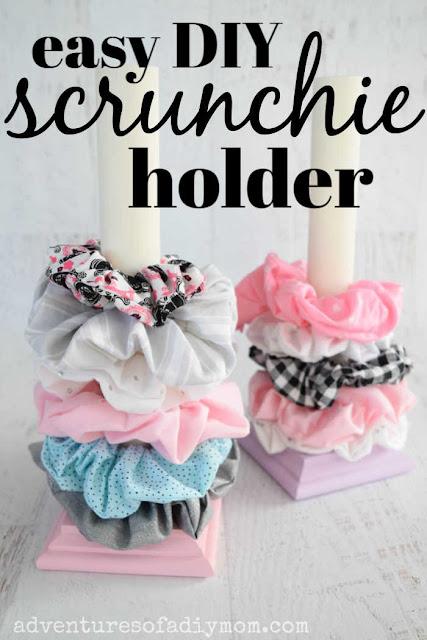 easy diy scrunchie holder