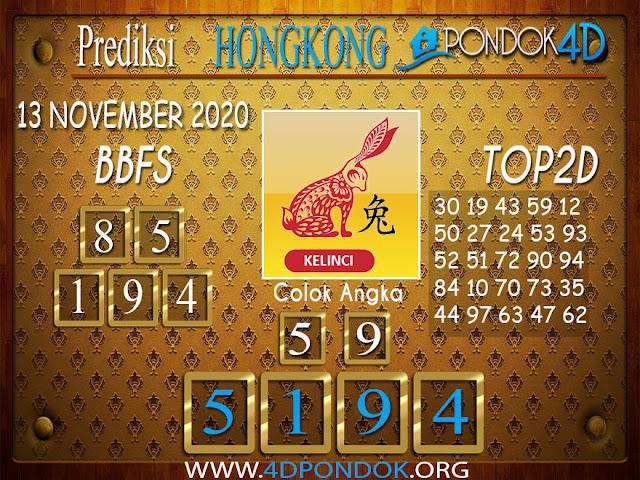 Prediksi Togel HONGKONG PONDOK4D 13 NOVEMBER 2020