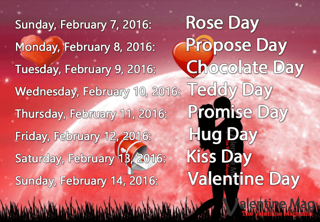 Valentines Day Week Names