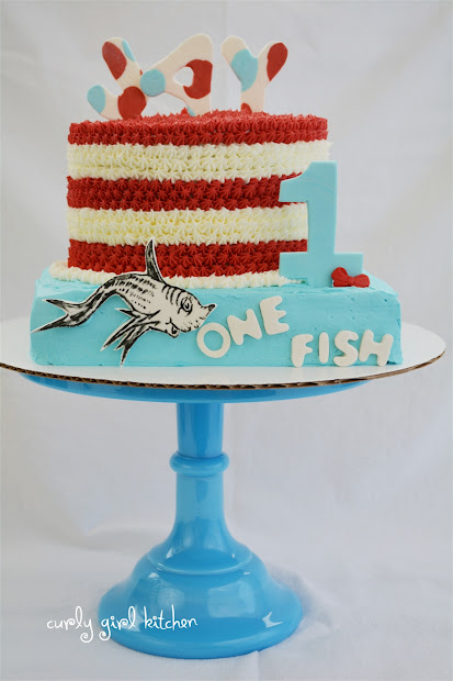 curly girl kitchen dr. seuss cake