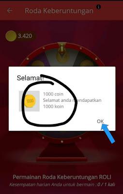 Koin gratis Aplikasi RoLi