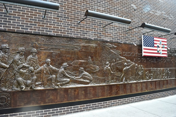 FDNY Memorial Wall,  New York City  --- Ms. Toody Goo Shoes