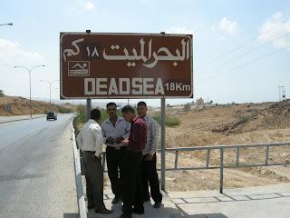 Imagen de la carretera hacie el mar Muerto