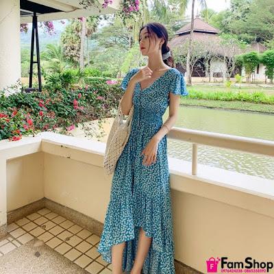 Địa chỉ bán váy maxi đi biển giá rẻ tại Hoàng Mai