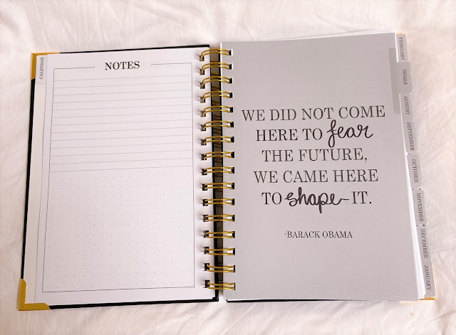 Positive quote in mindset diary