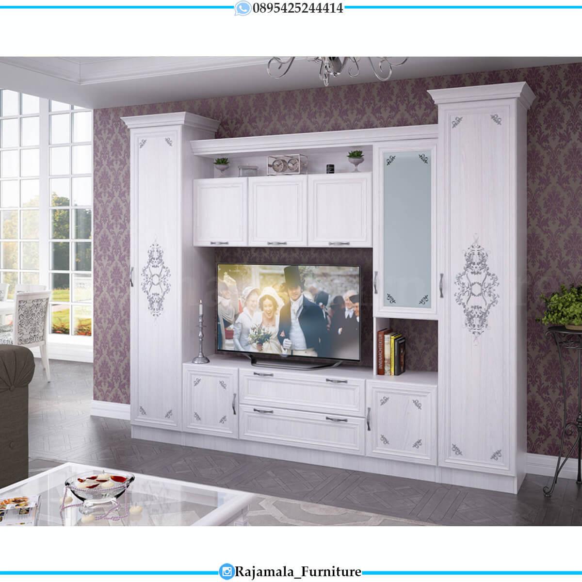 Desain Bufet TV Mewah Minimalis Jepara Luxurious Style RM-0656