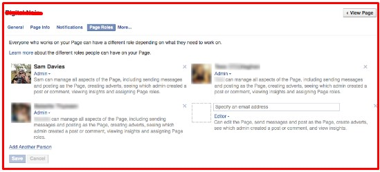how to add admin on facebook fan page