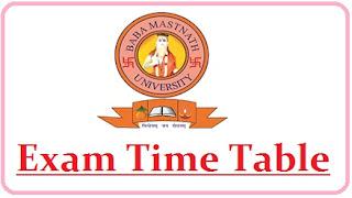 Baba Mast Nath University Exam Date Sheet 2021