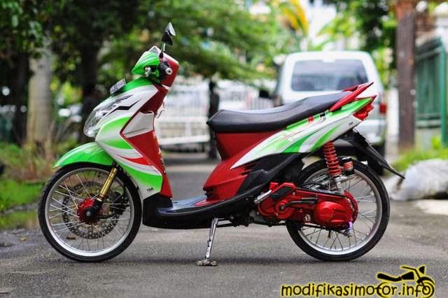 modifikasi motor Mio 16