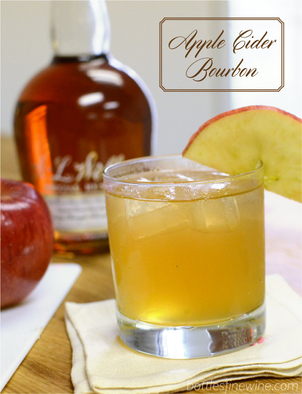 apple cider and ginger beer bourbon cocktail idea
