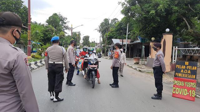 Stop Penyebaran Covid-19, Polsek Dusun Timur Melaksanakan Oprasi Yustisi.
