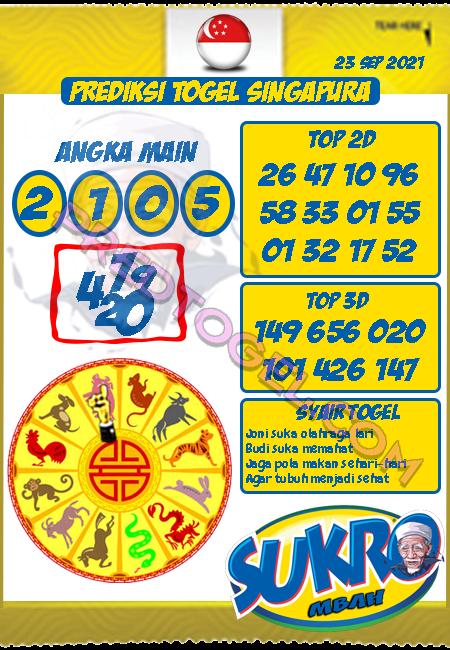 Prediksi Mbah Sukro Togel Singapura Kamis 23 September 2021