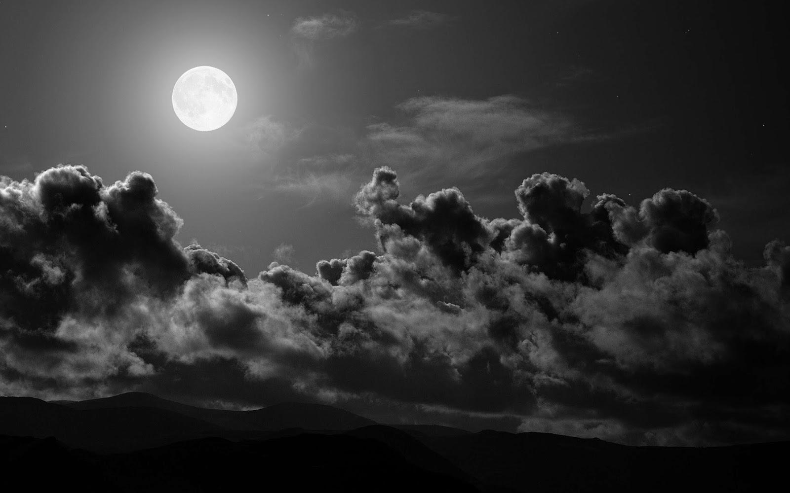 Moon in Sky wallpaper