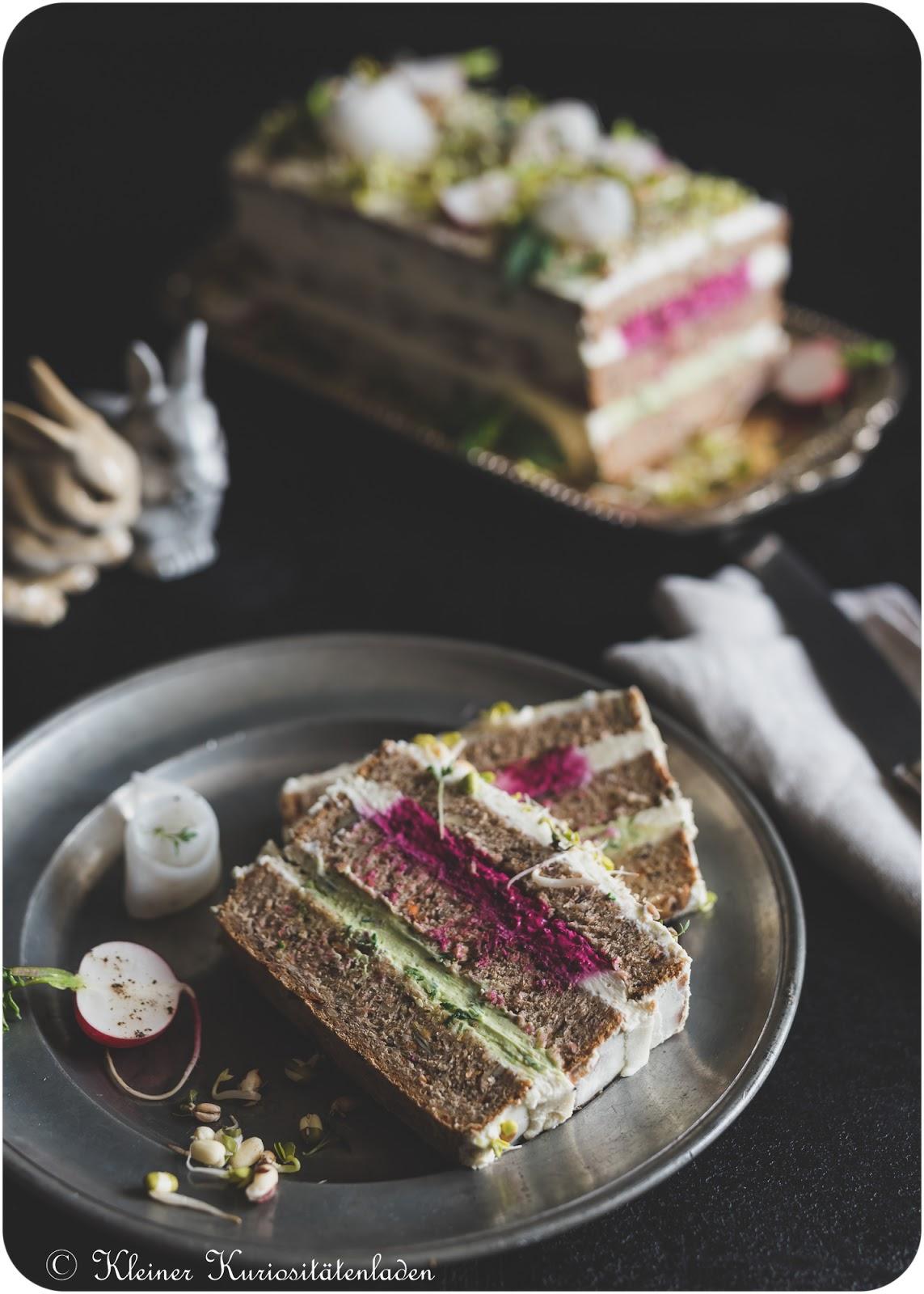 Svartbröd Smörgåstårta | Schwarzbrot-Sandwichtorte