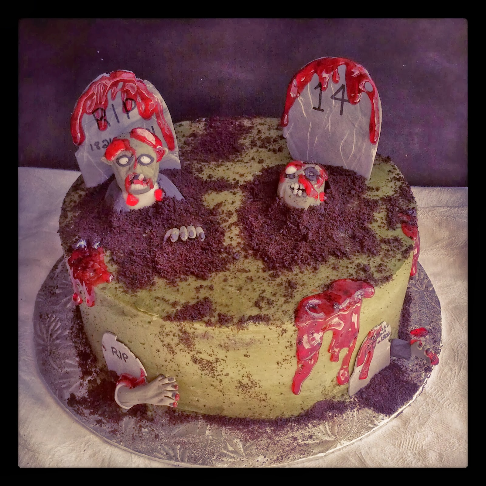 Yard Zombie Birthday Cake