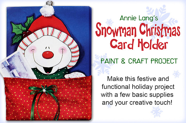 Download Annie Lang's Snowman Card Keeper for FREE at Annie Things Possible
