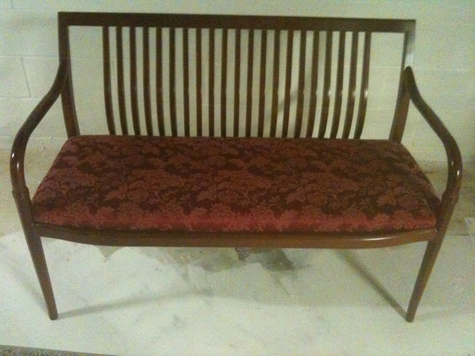 Crafting History Store: Settee - Vintage upholstered Bench ...