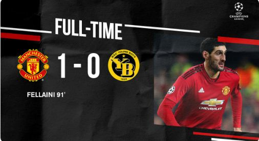 Manchester United vs Young Boys 1-0 Highlights