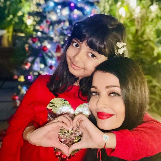 ऐश्वर्या राय ने बच्चन परिवार क्रिसमस पार्टी से आराध्या की कीमती छवि साझा की