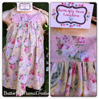 Shabby Chic Roses Yellow Dress size 2