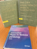 The CIBA Collection of Medical Illustrations, by Frank Netter, with Intermediate Physics for Medicine and Biology.