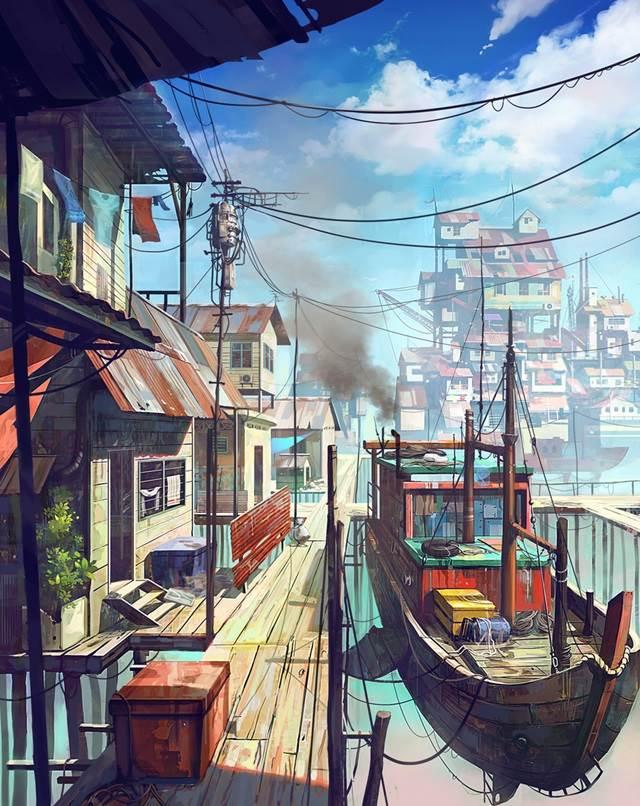 floating village girl manga